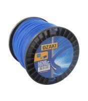 Trimmerfaden auf Spule Nylon viereckig blau - Länge:...